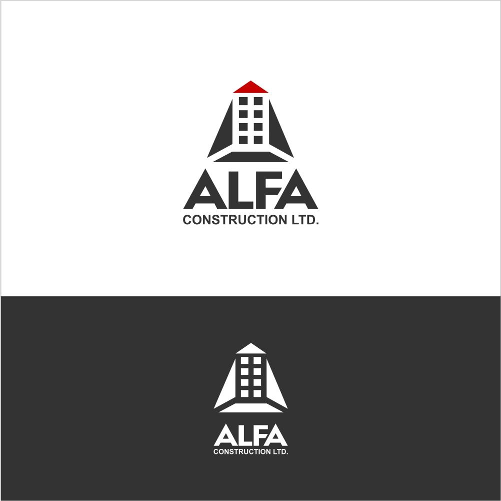 Logo Design by Farid Hakim - Entry No. 37 in the Logo Design Contest Fun Logo Design for Alfa Construction Ltd.