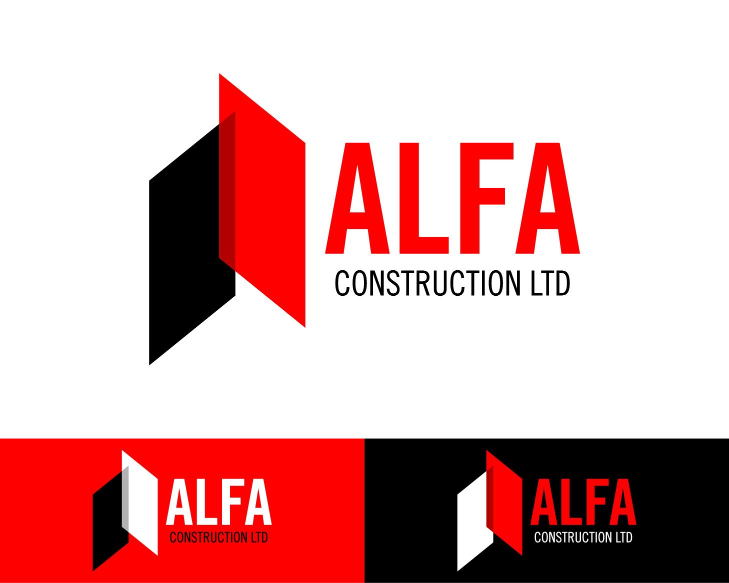 Logo Design by serroteca - Entry No. 40 in the Logo Design Contest Fun Logo Design for Alfa Construction Ltd.