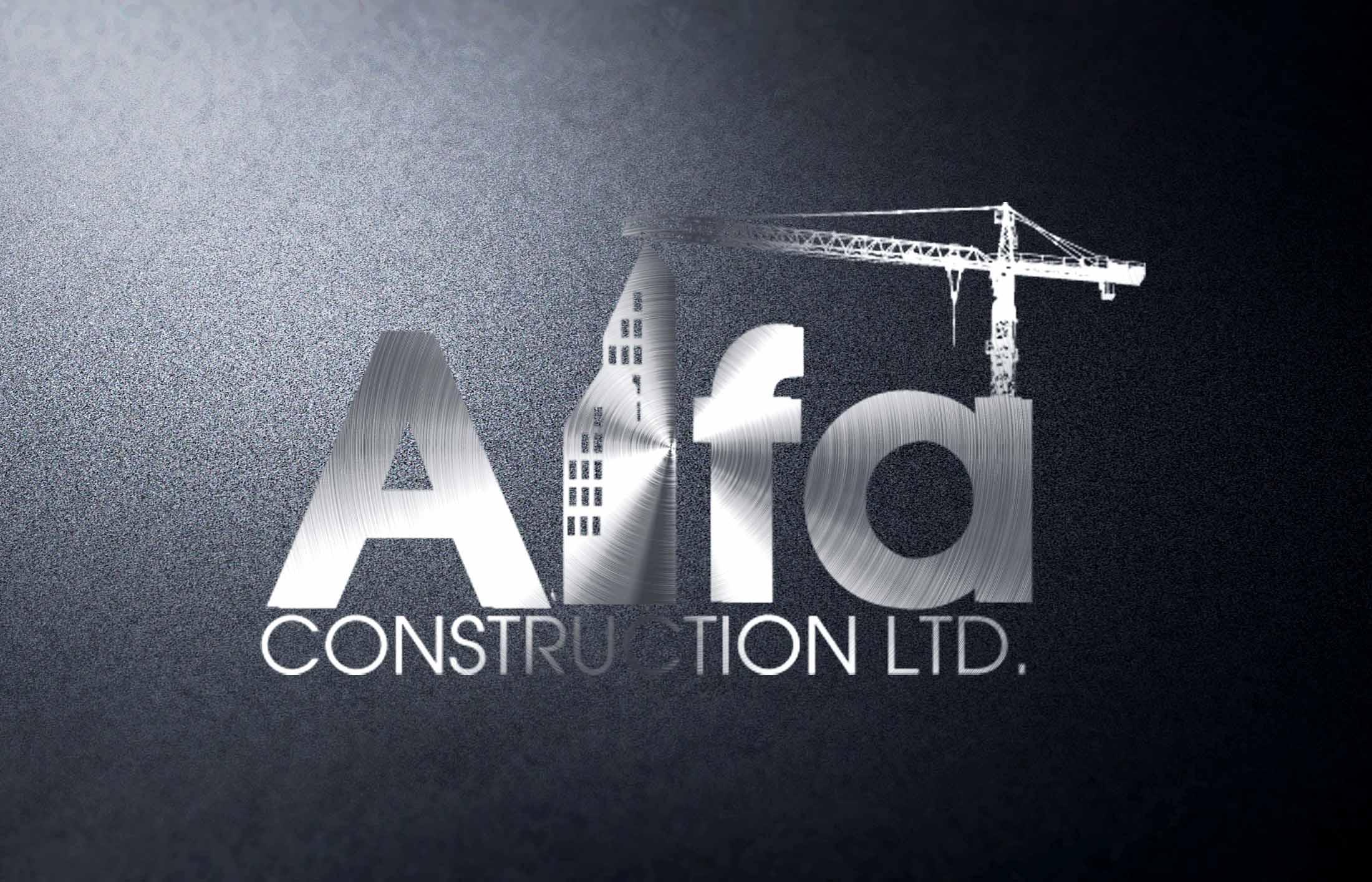 Logo Design by Private User - Entry No. 41 in the Logo Design Contest Fun Logo Design for Alfa Construction Ltd.