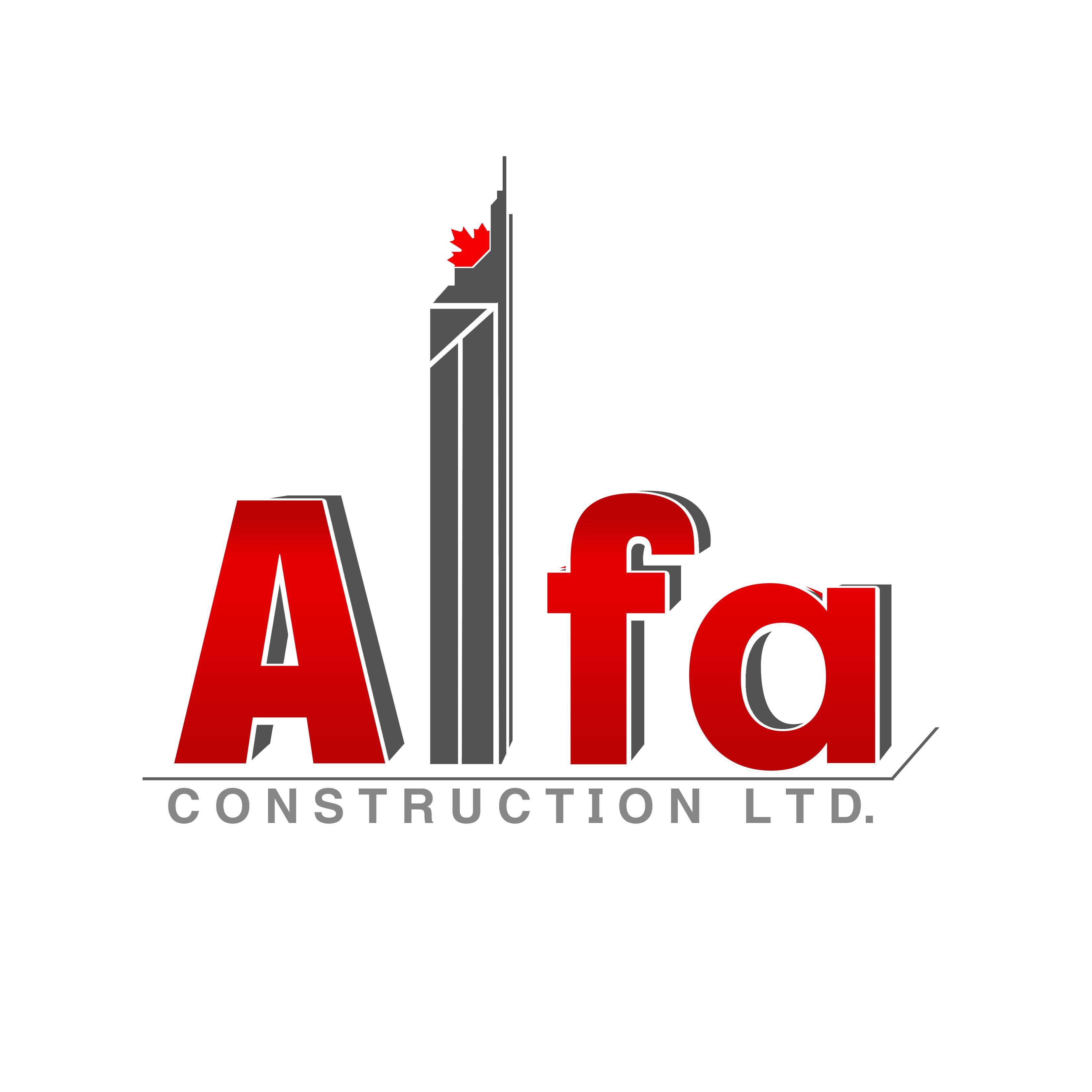 Logo Design by Allan Esclamado - Entry No. 49 in the Logo Design Contest Fun Logo Design for Alfa Construction Ltd.