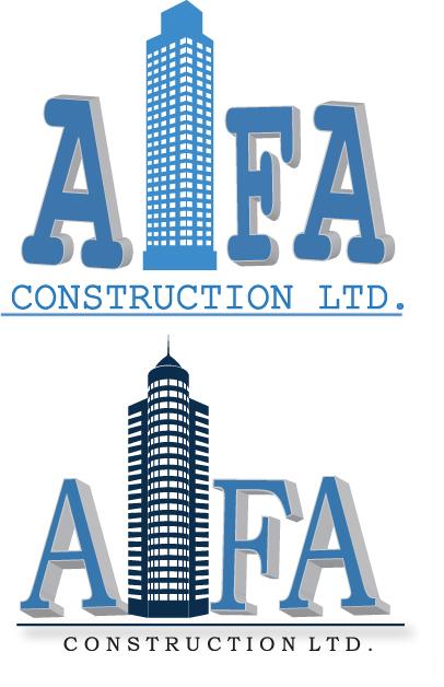 Logo Design by Tehzeeb Ahmed - Entry No. 51 in the Logo Design Contest Fun Logo Design for Alfa Construction Ltd.