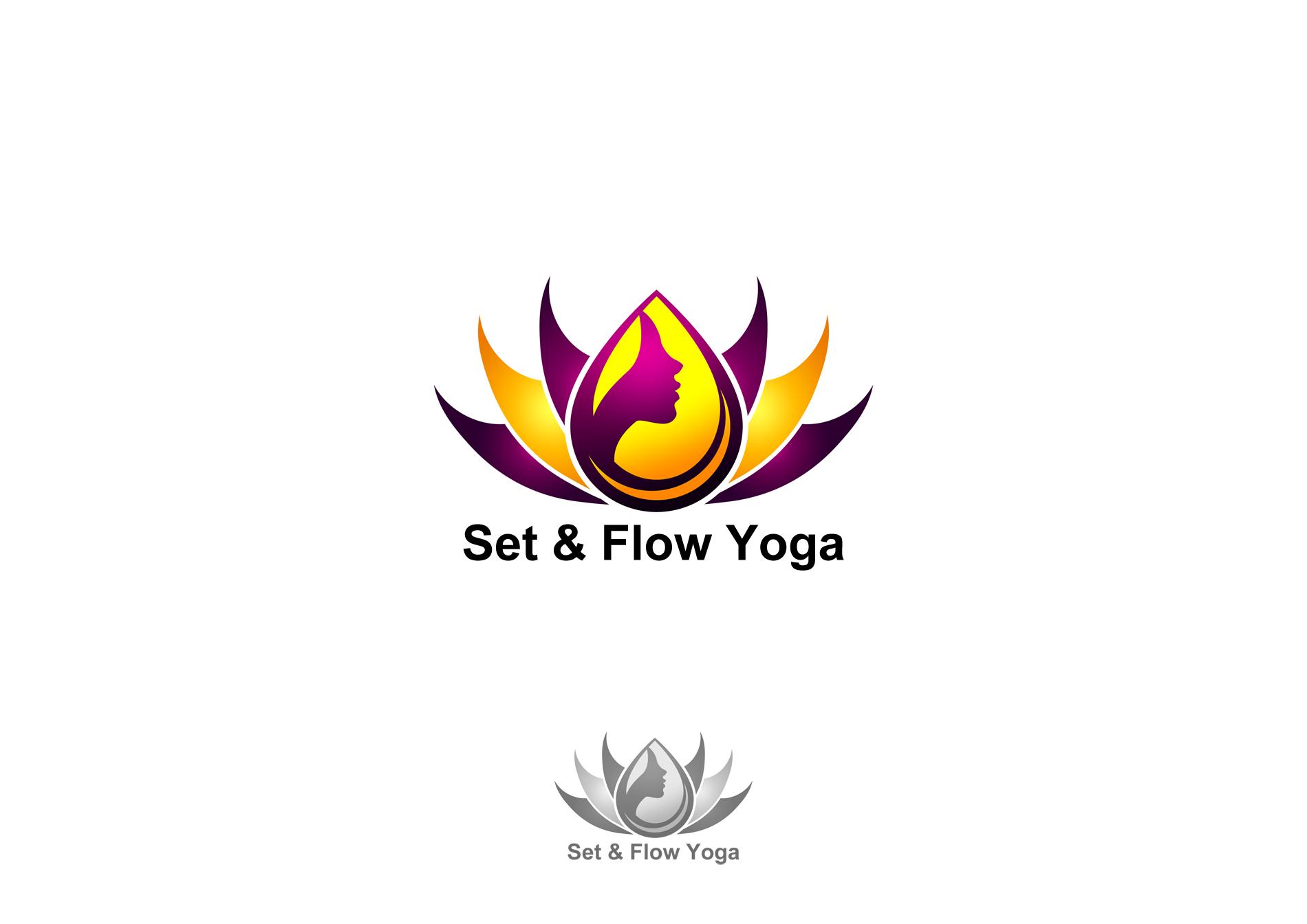 Logo Design by Brian Montejo - Entry No. 5 in the Logo Design Contest Creative Logo Design for Set and Flow Yoga.