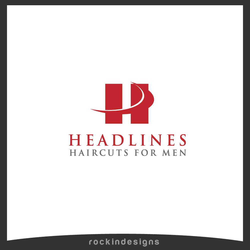 Logo Design by rockin - Entry No. 7 in the Logo Design Contest Headlines Haircuts For Men Logo Design.