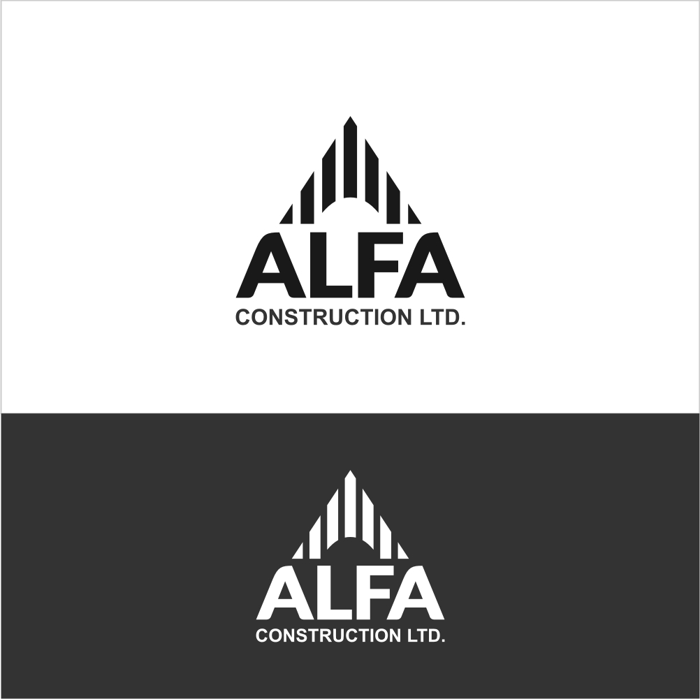 Logo Design by Farid Hakim - Entry No. 93 in the Logo Design Contest Fun Logo Design for Alfa Construction Ltd.