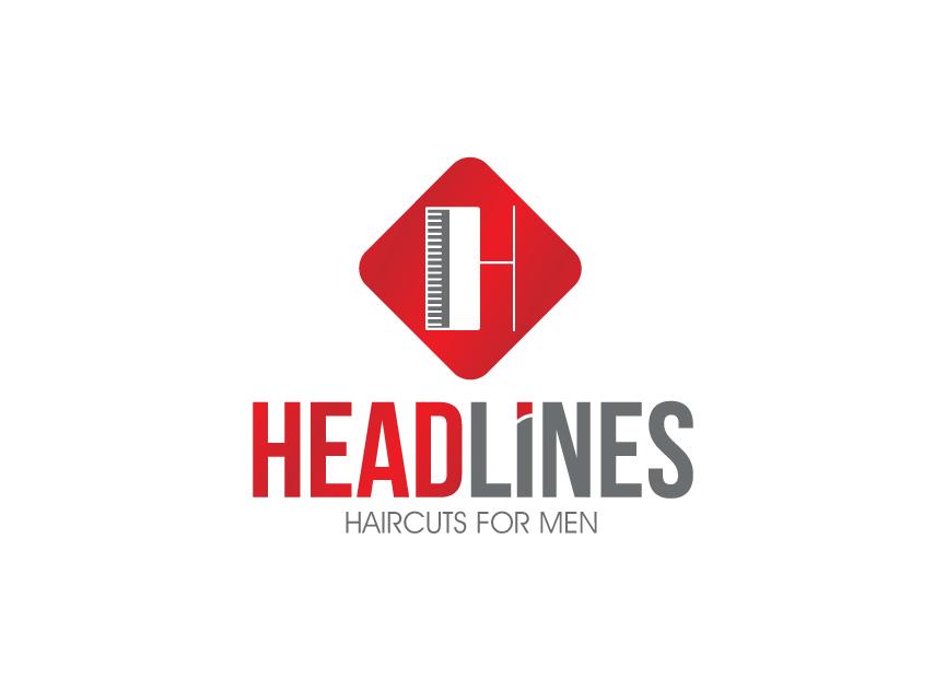 Logo Design by RasYa Muhammad Athaya - Entry No. 18 in the Logo Design Contest Headlines Haircuts For Men Logo Design.