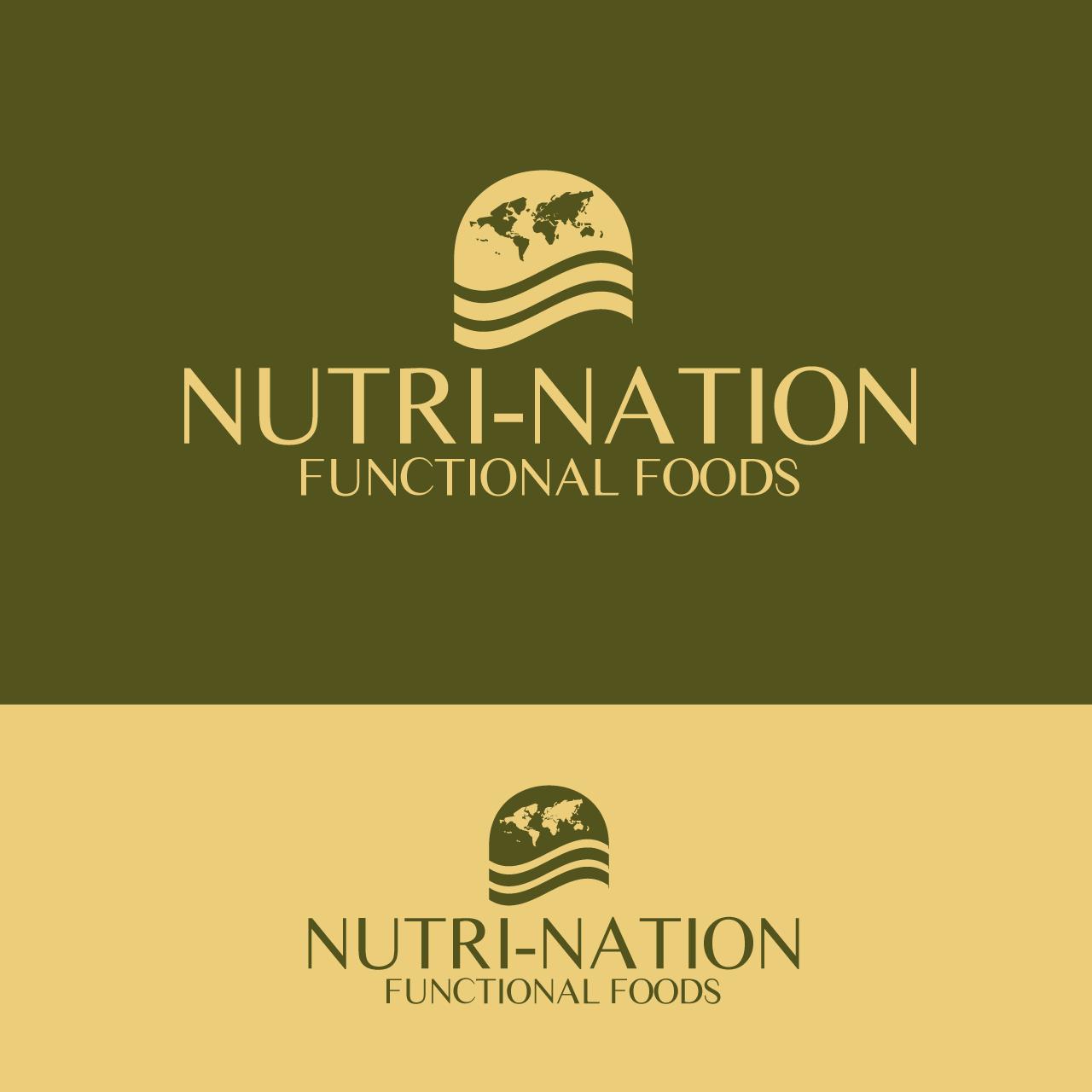Logo Design by umxca - Entry No. 159 in the Logo Design Contest Nutri-Nation Functional Foods Logo.