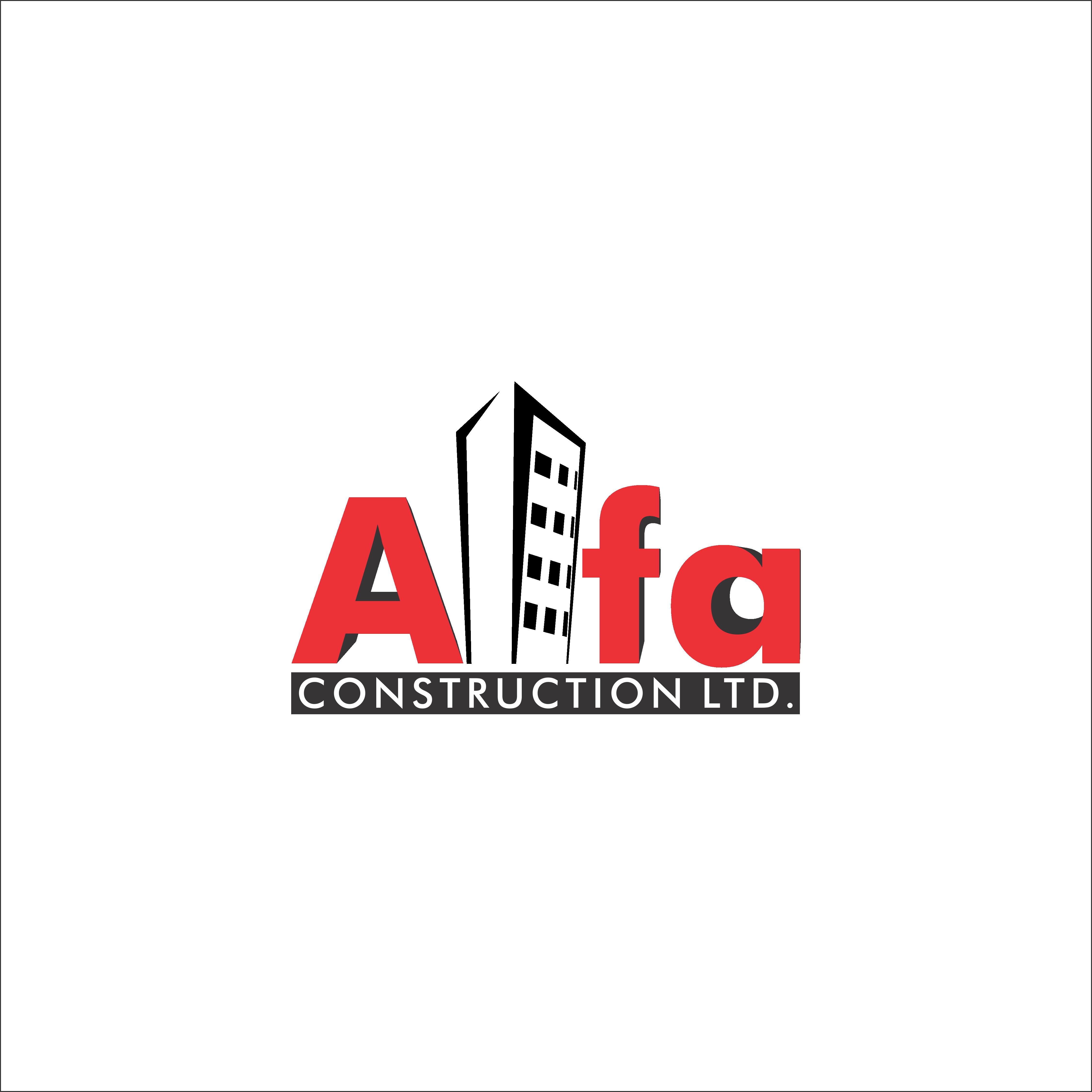 Logo Design by renren - Entry No. 121 in the Logo Design Contest Fun Logo Design for Alfa Construction Ltd.