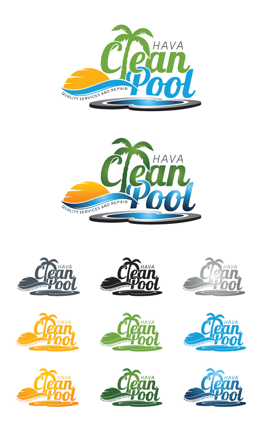 Logo Design by RasYa Muhammad Athaya - Entry No. 50 in the Logo Design Contest Hava Clean Pool Quality Service and Repair Logo Design.
