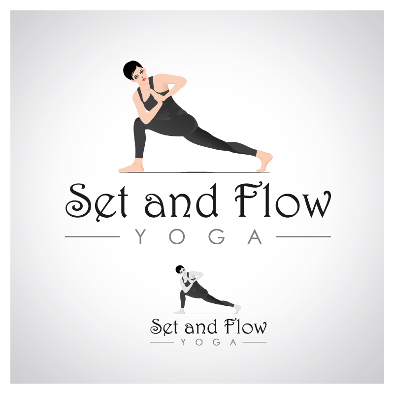 Logo Design by Puspita Wahyuni - Entry No. 33 in the Logo Design Contest Creative Logo Design for Set and Flow Yoga.