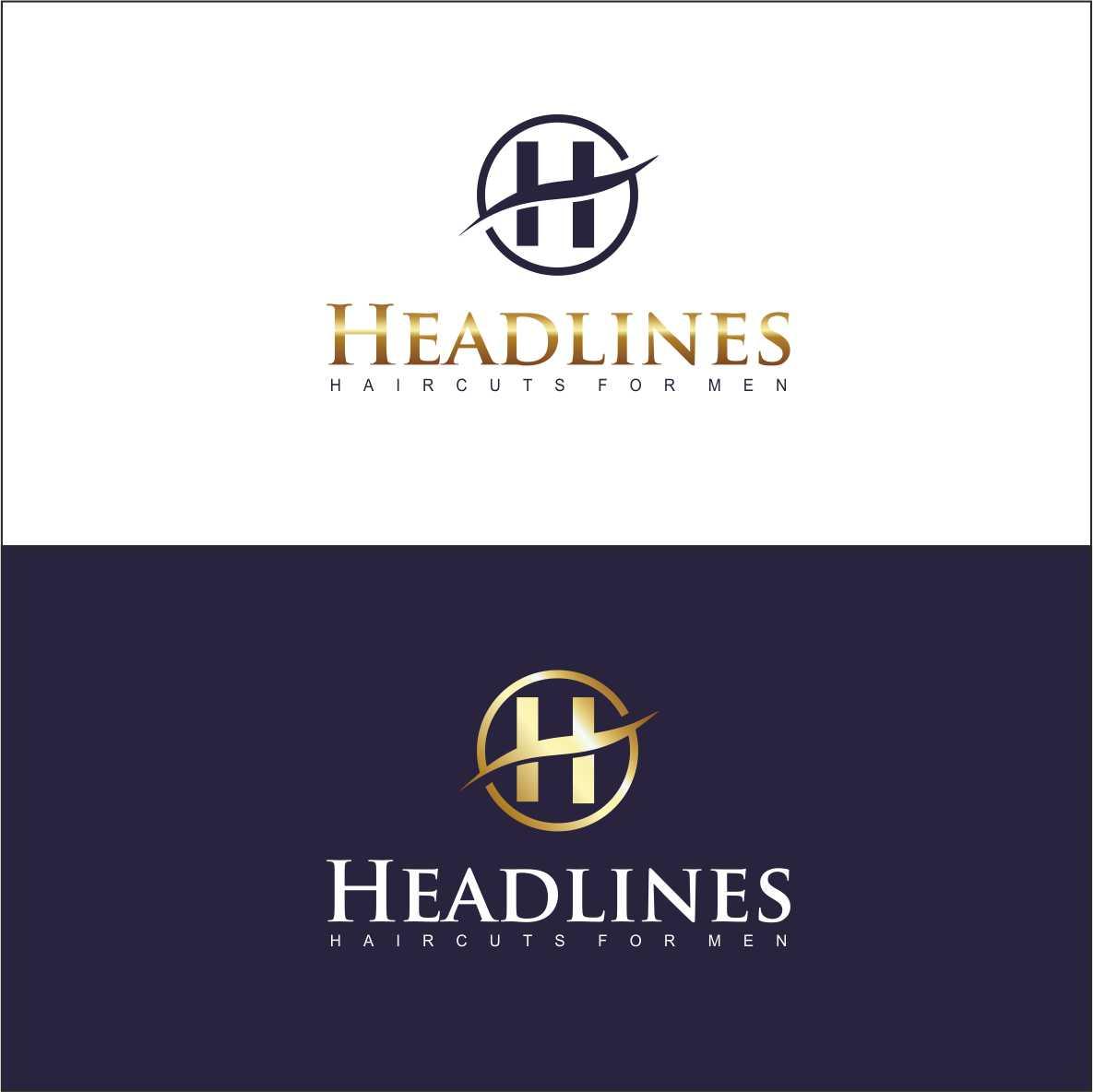 Logo Design by simbol - Entry No. 44 in the Logo Design Contest Headlines Haircuts For Men Logo Design.