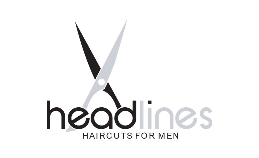 Logo Design by RasYa Muhammad Athaya - Entry No. 58 in the Logo Design Contest Headlines Haircuts For Men Logo Design.