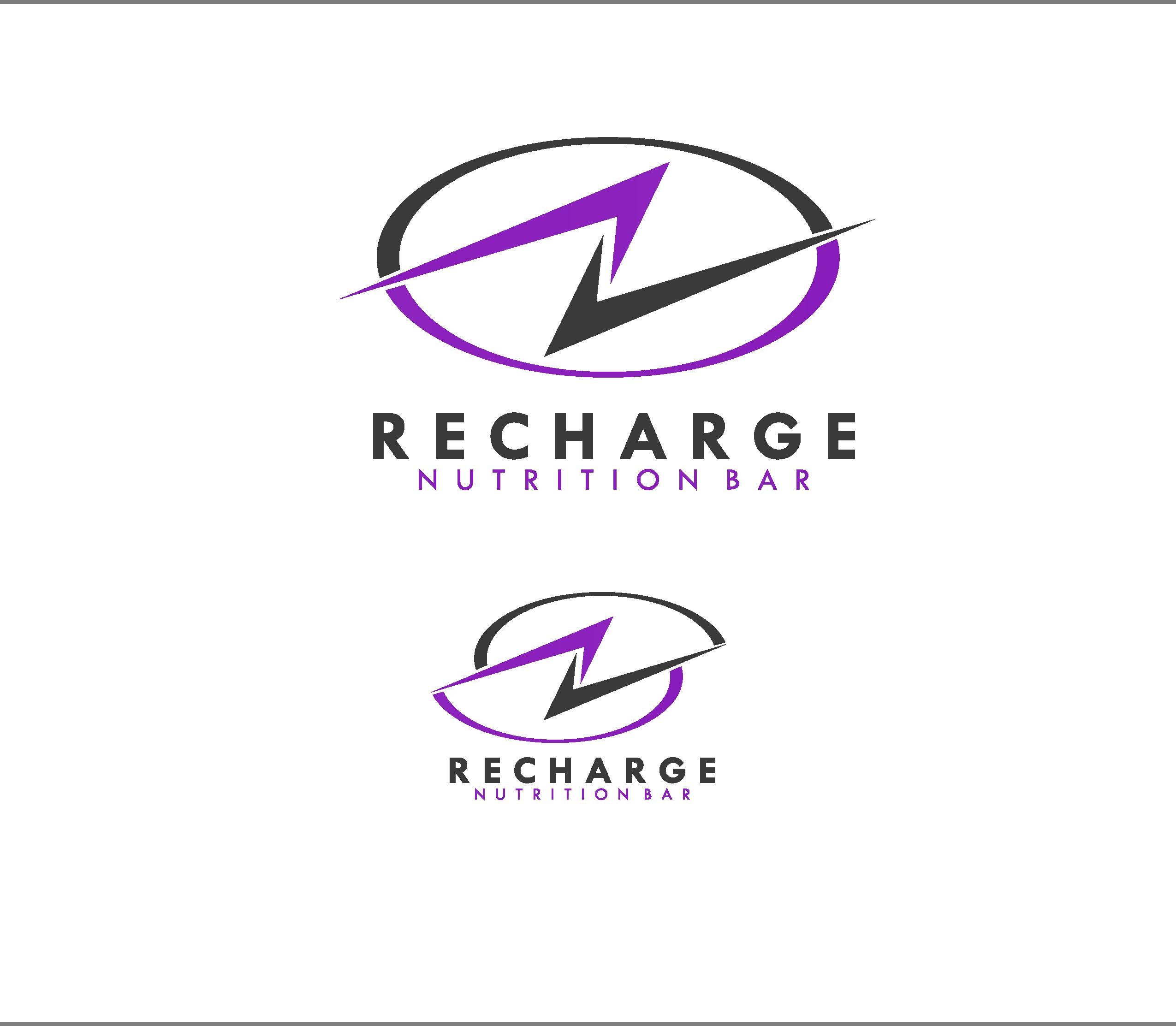 Logo Design by Allan Esclamado - Entry No. 61 in the Logo Design Contest Artistic Logo Design for Recharge Nutrition Bar Inc.