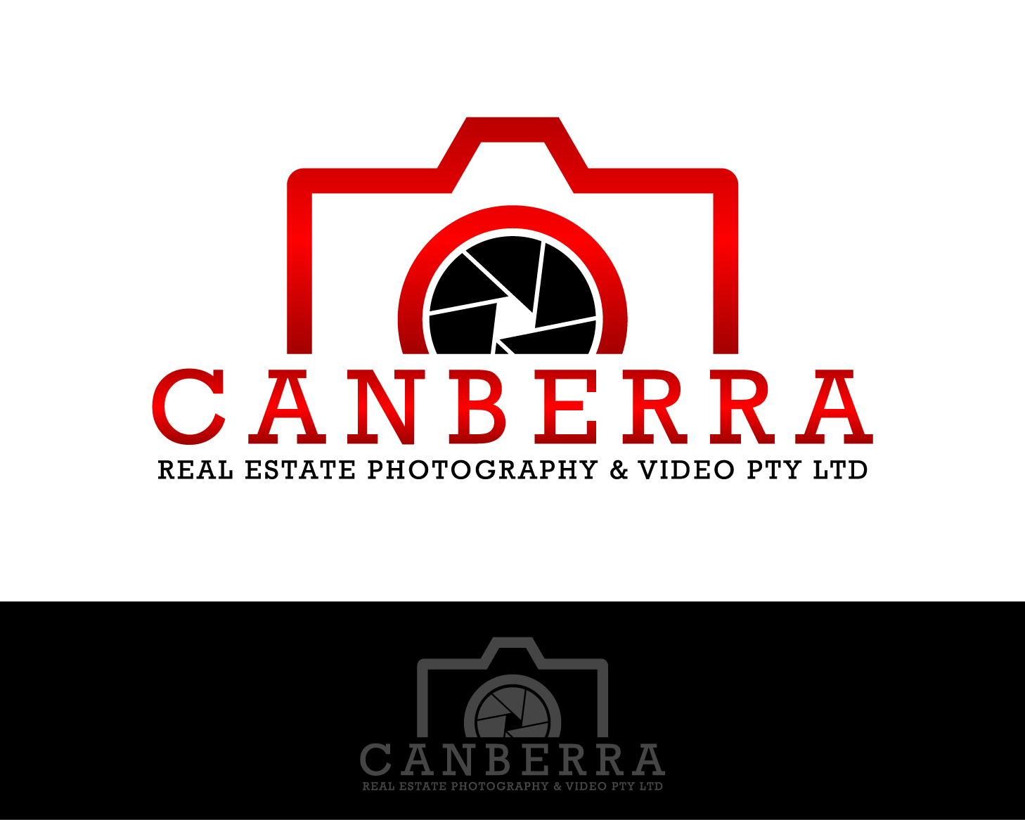 Logo Design by serroteca - Entry No. 23 in the Logo Design Contest Creative Logo Design for Canberra Real Estate Photography & Video Pty Ltd.