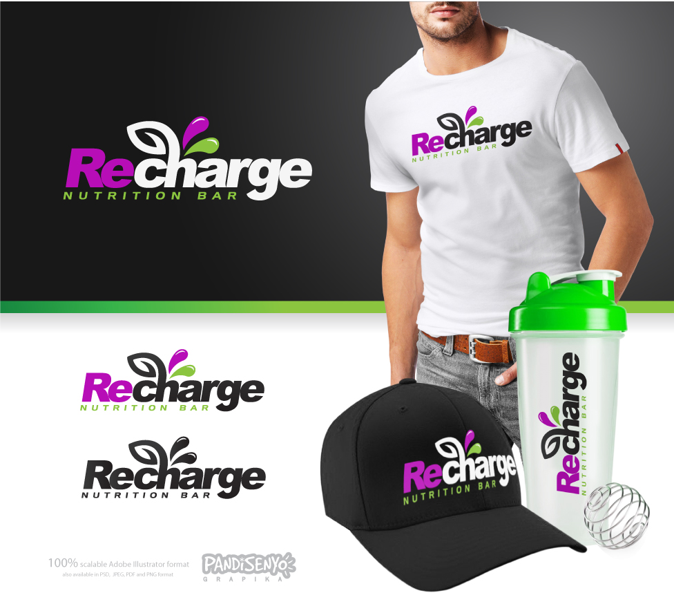 Logo Design by pandisenyo - Entry No. 92 in the Logo Design Contest Artistic Logo Design for Recharge Nutrition Bar Inc.