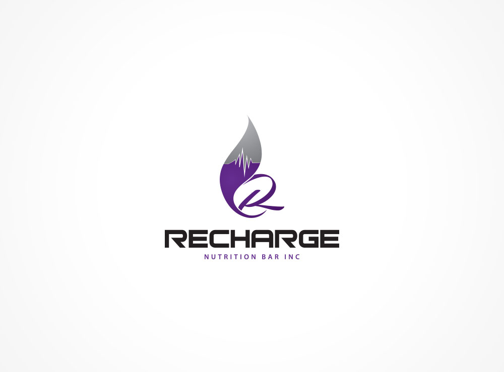 Logo Design by Asrullah Muin - Entry No. 101 in the Logo Design Contest Artistic Logo Design for Recharge Nutrition Bar Inc.