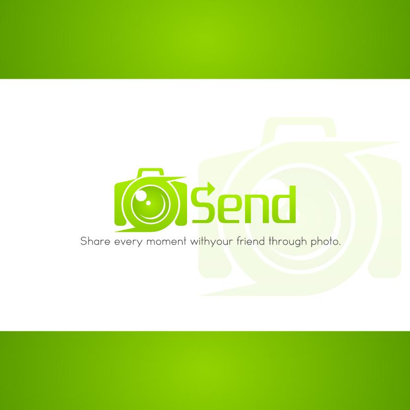 Logo Design by chAnDOS - Entry No. 9 in the Logo Design Contest Logo Design for Send, a photo-messenger app.