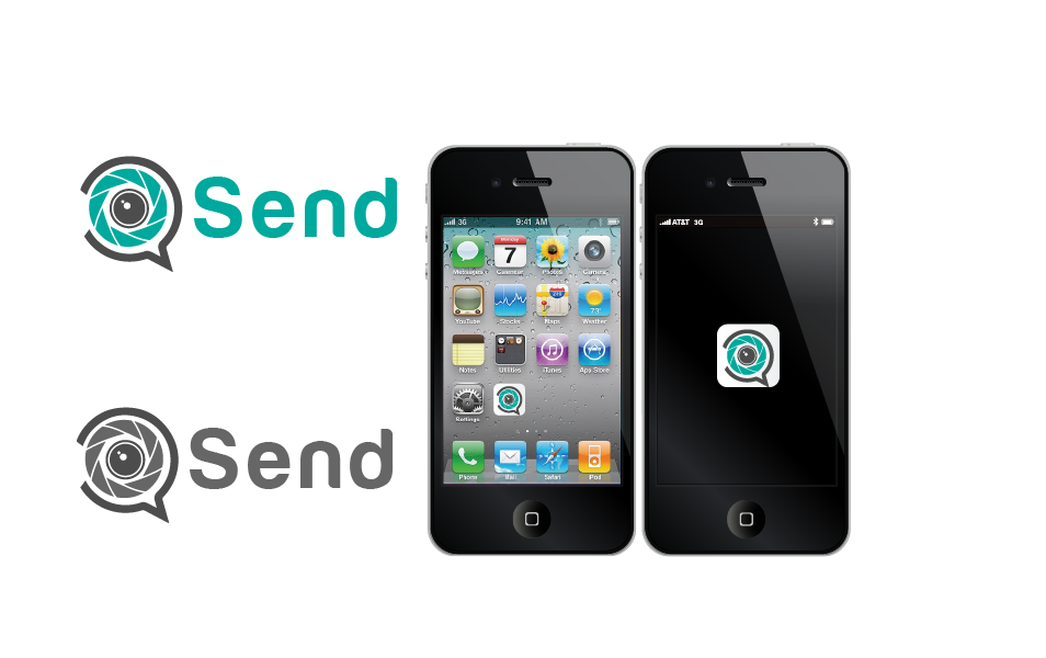Logo Design by Private User - Entry No. 57 in the Logo Design Contest Logo Design for Send, a photo-messenger app.