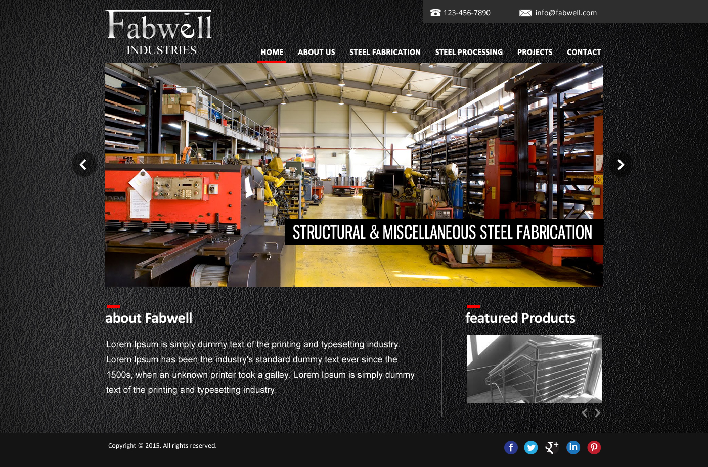 Web Page Design by webexprtz - Entry No. 14 in the Web Page Design Contest Captivating Web Page Design for Fabwell Industries Inc..