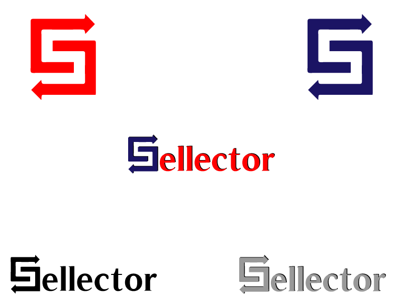 Logo Design by Qurban Hussain - Entry No. 3 in the Logo Design Contest Imaginative Logo Design for Sellector.