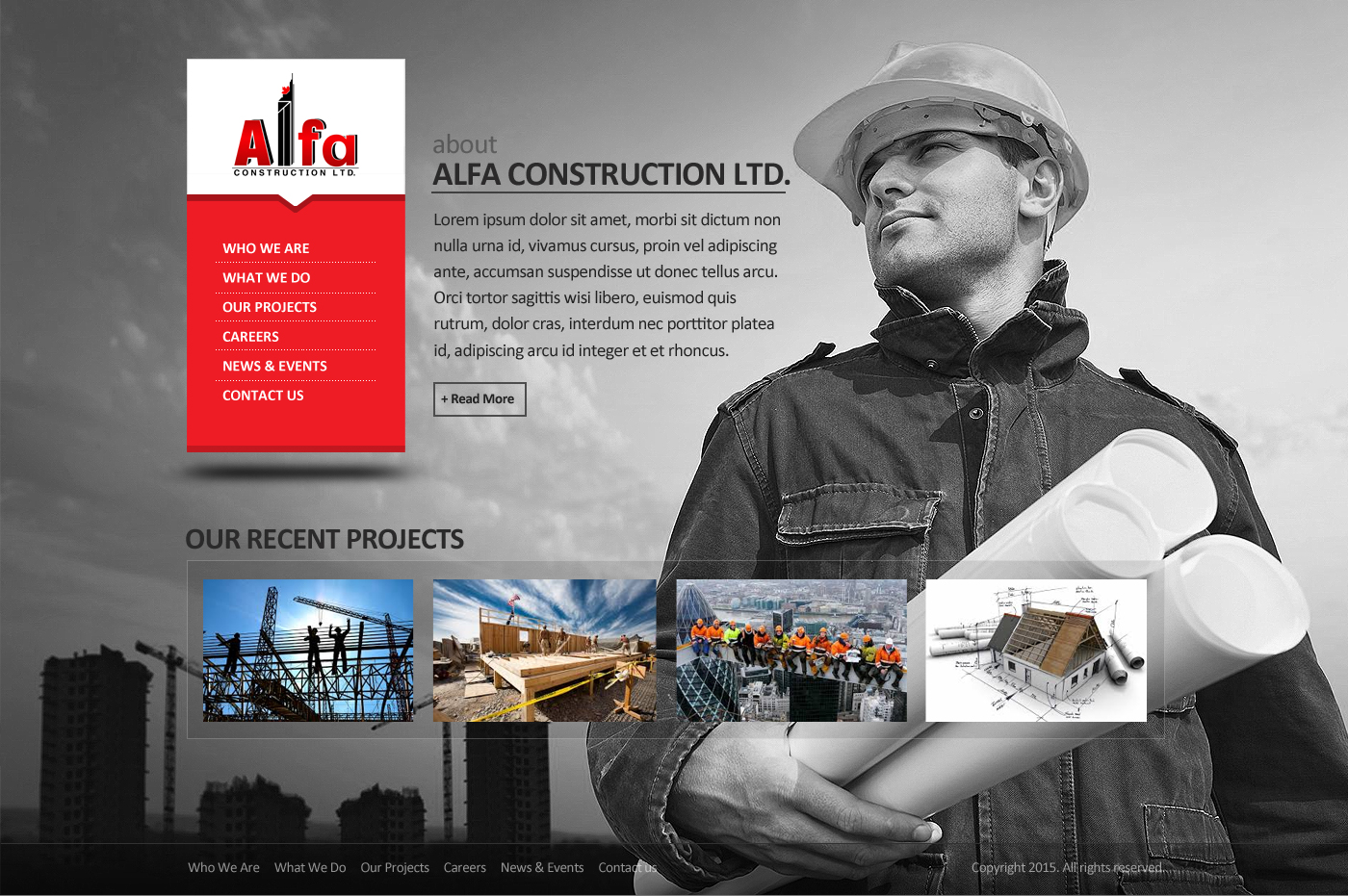 Web Page Design by webexprtz - Entry No. 5 in the Web Page Design Contest Unique Web Page Design Wanted for Alfa Construction Ltd..
