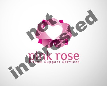 Logo Design by dapc79 - Entry No. 19 in the Logo Design Contest Pink Rose Home Support Services.
