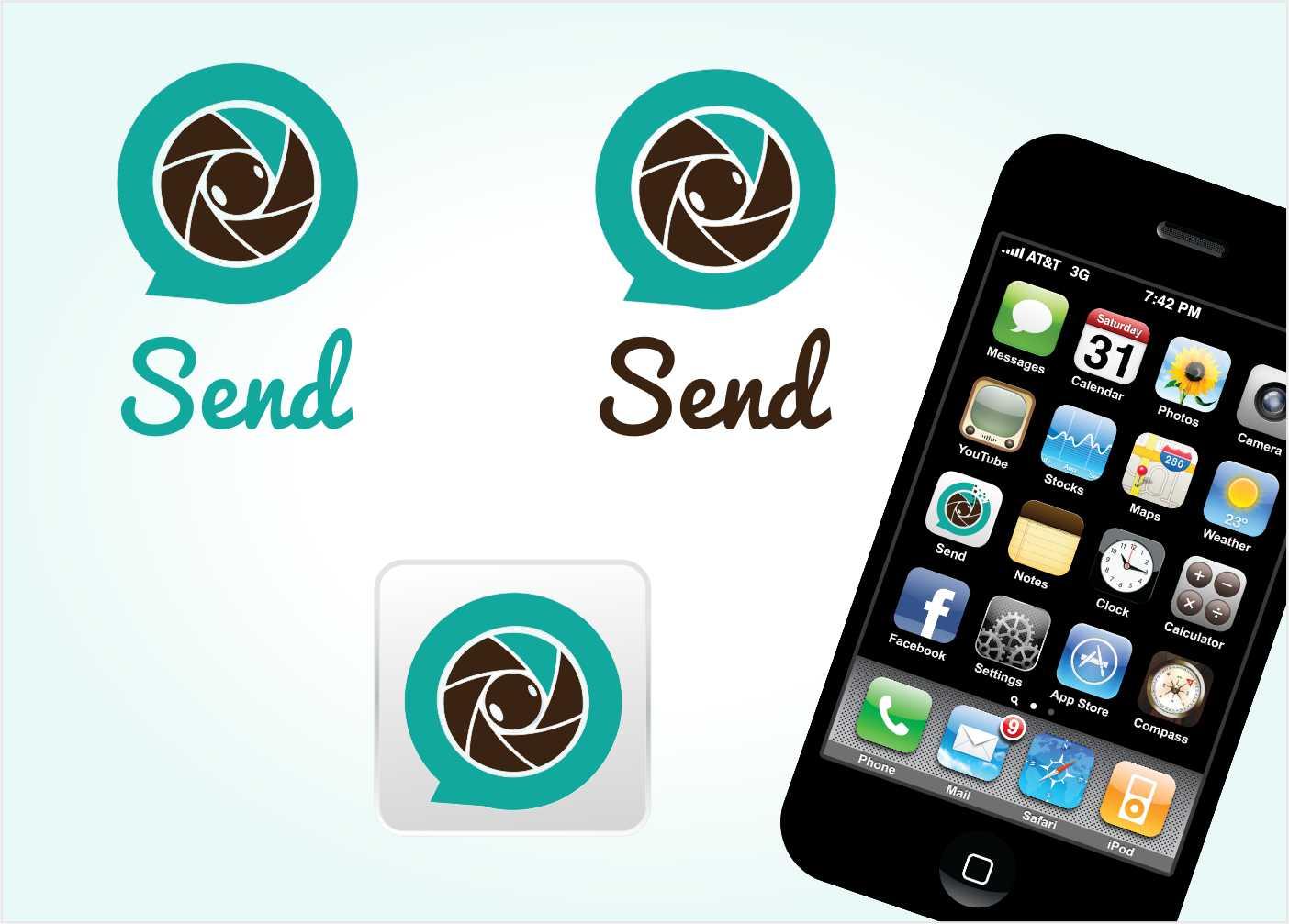 Logo Design by Private User - Entry No. 125 in the Logo Design Contest Logo Design for Send, a photo-messenger app.