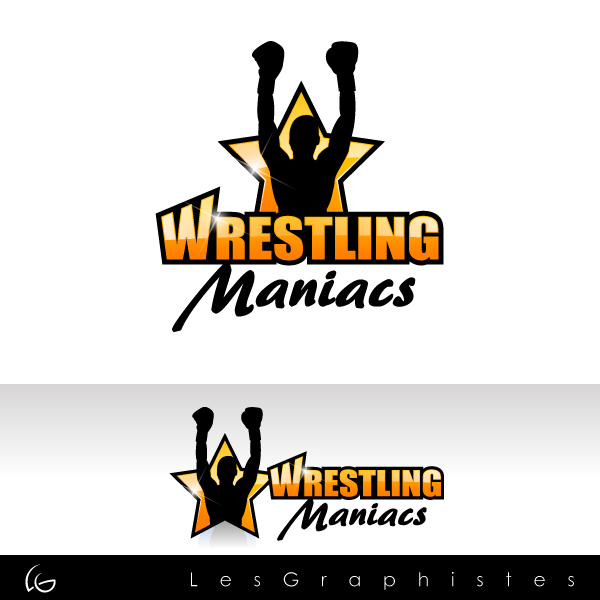Logo Design by Les-Graphistes - Entry No. 3 in the Logo Design Contest Wrestling Maniacs.