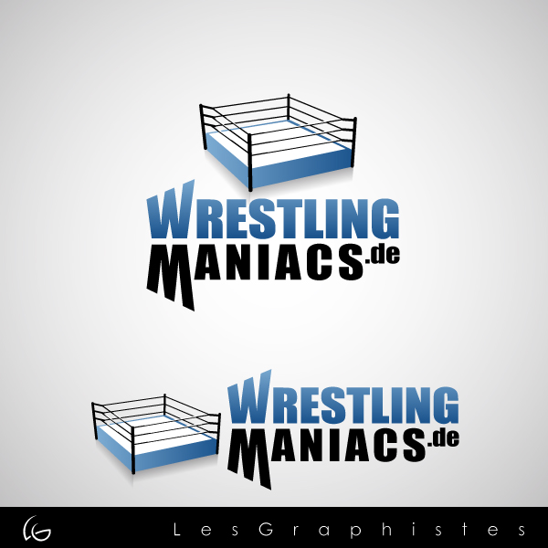 Logo Design by Les-Graphistes - Entry No. 19 in the Logo Design Contest Wrestling Maniacs.