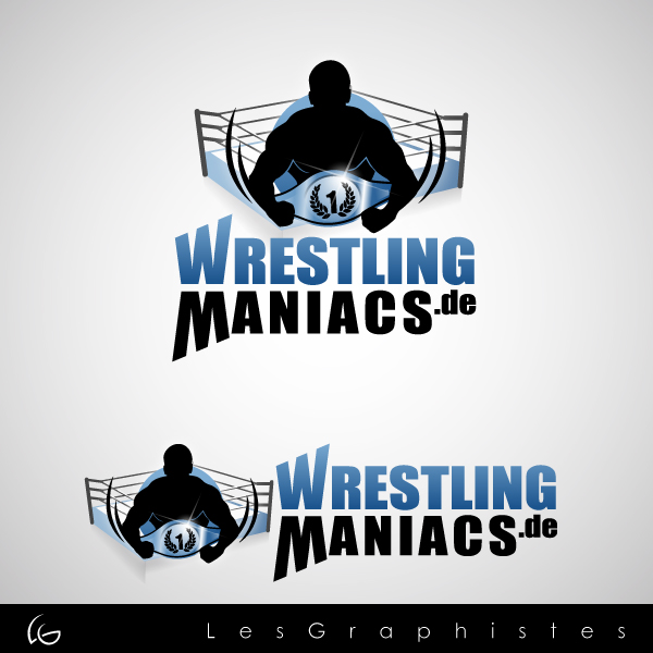 Logo Design by Les-Graphistes - Entry No. 34 in the Logo Design Contest Wrestling Maniacs.