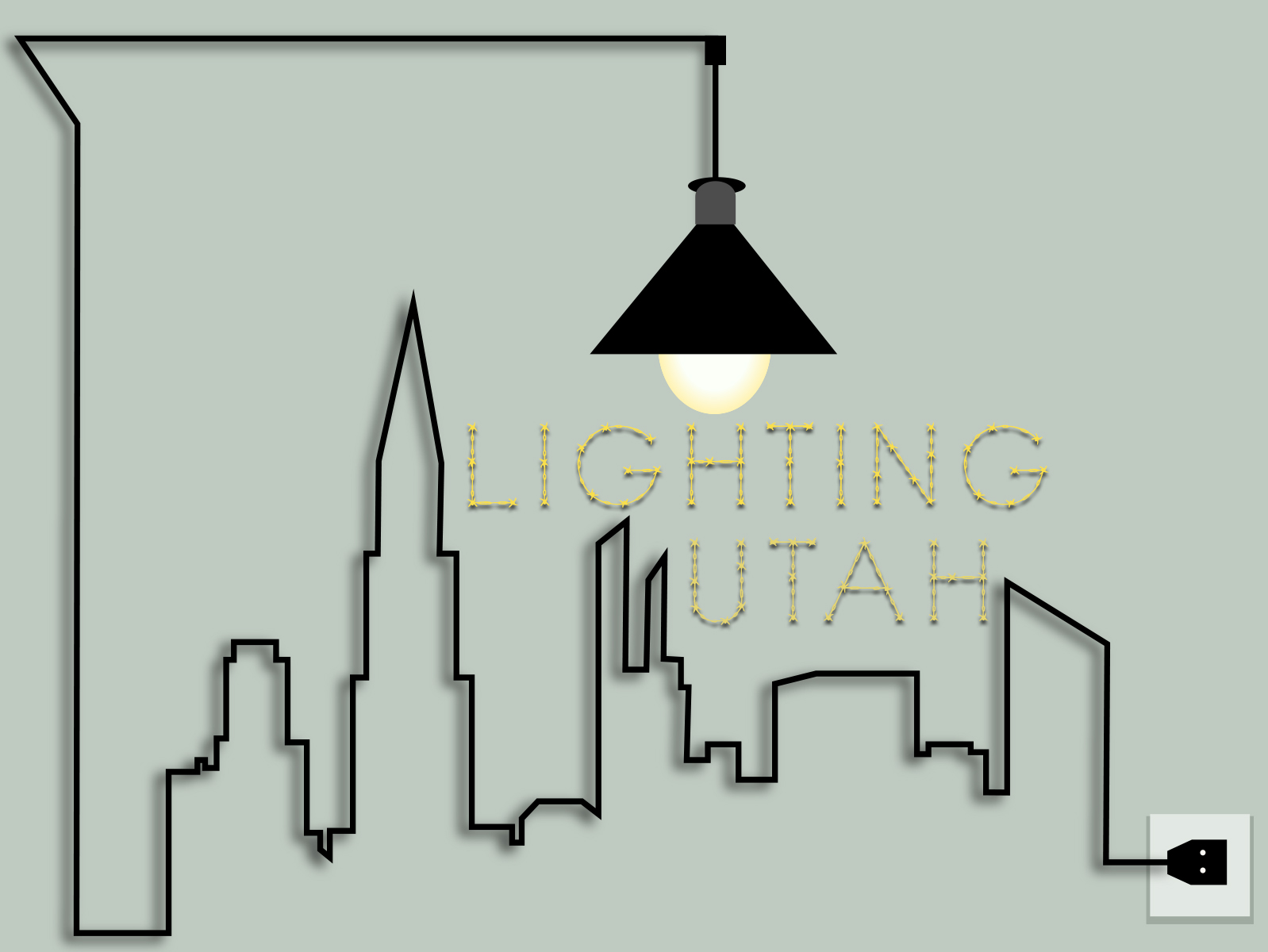 Logo Design by Raafat Adly - Entry No. 12 in the Logo Design Contest Imaginative Logo Design for Lighting Utah. A Galaxie lighting company.
