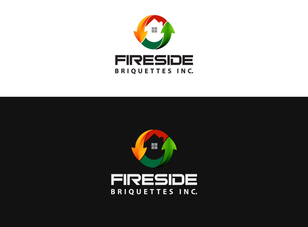Logo Design by Asrullah Muin - Entry No. 10 in the Logo Design Contest Fun Logo Design for Fireside Briquettes Inc..