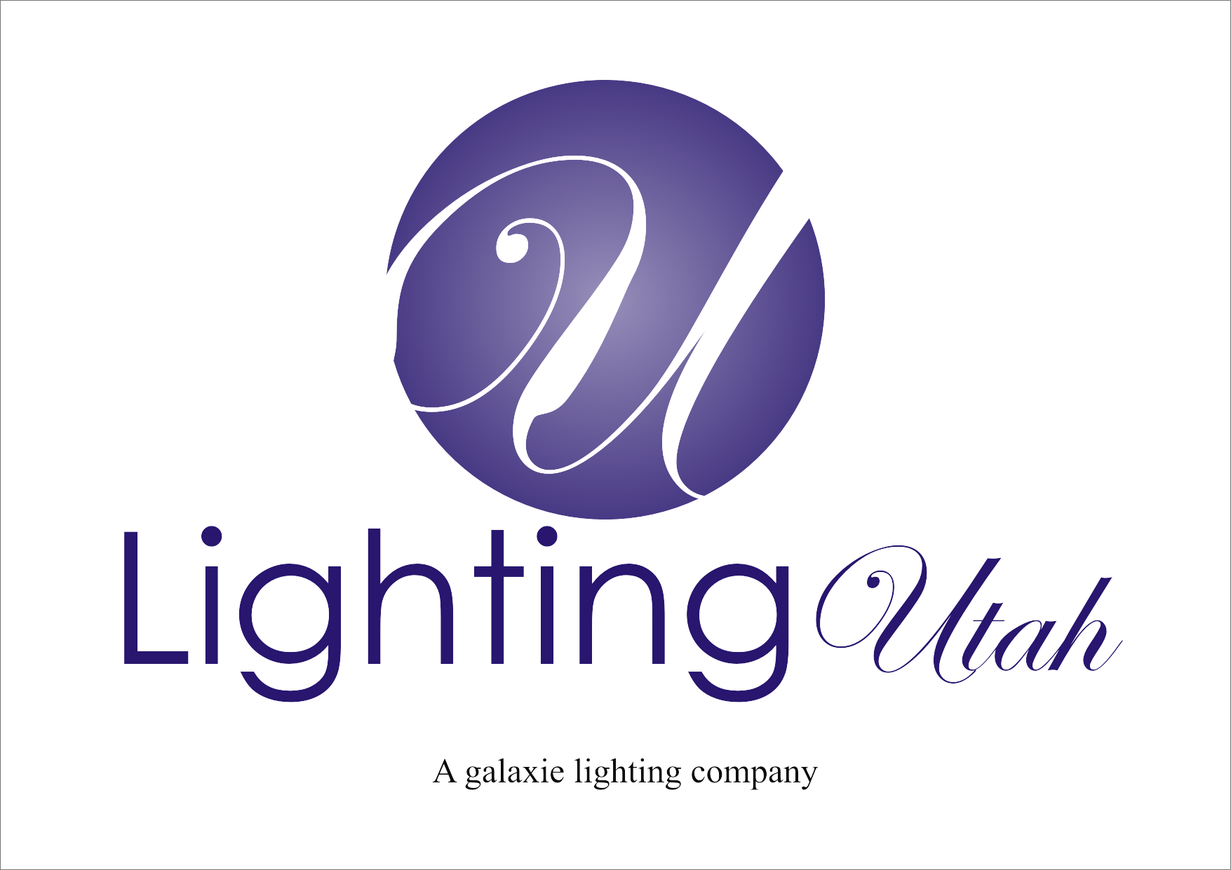 Logo Design by Russell You - Entry No. 99 in the Logo Design Contest Imaginative Logo Design for Lighting Utah. A Galaxie lighting company.