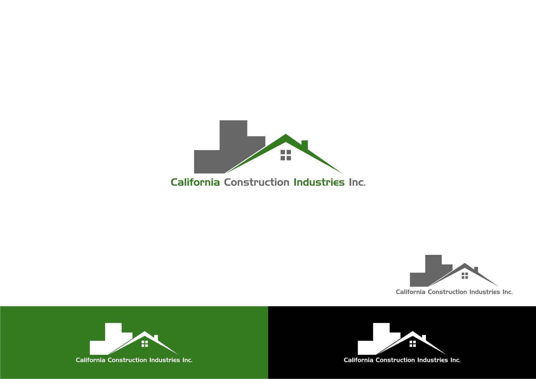 Logo Design by Ba Yu - Entry No. 3 in the Logo Design Contest California Construction Industries Inc. Logo Design.
