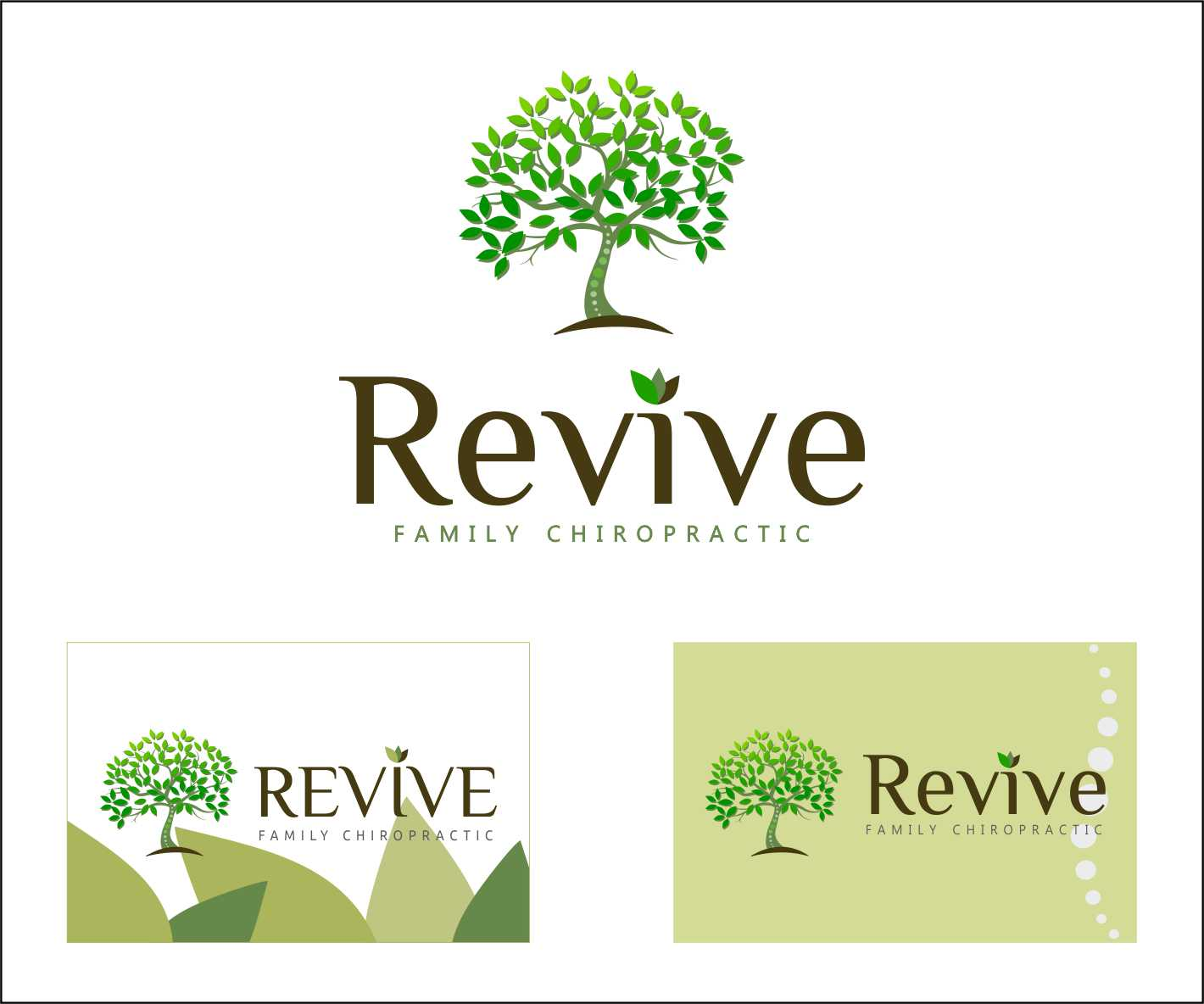 Logo Design by Private User - Entry No. 1 in the Logo Design Contest Fun Logo Design for Revive Family Chiropractic.