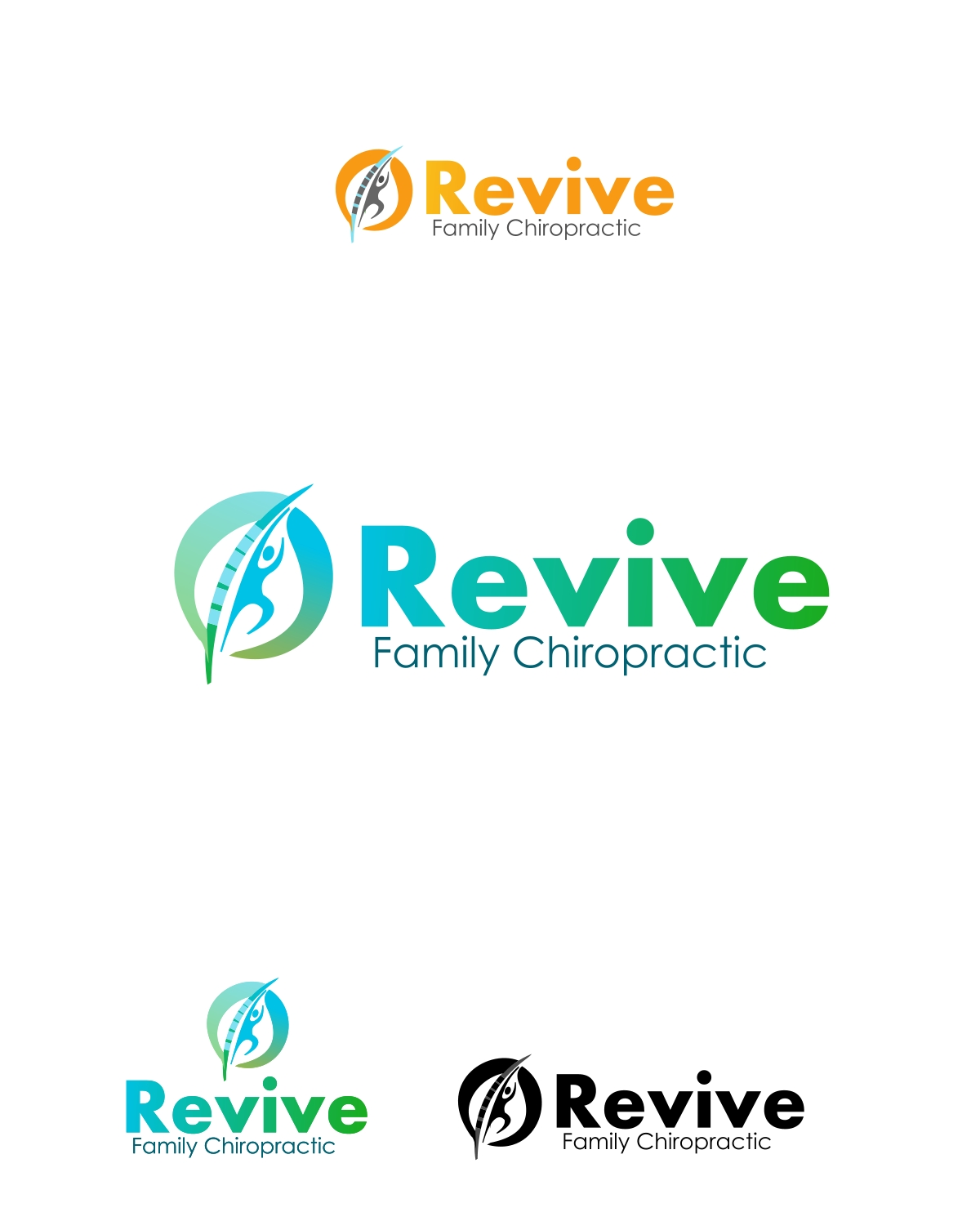 Logo Design by Private User - Entry No. 8 in the Logo Design Contest Fun Logo Design for Revive Family Chiropractic.