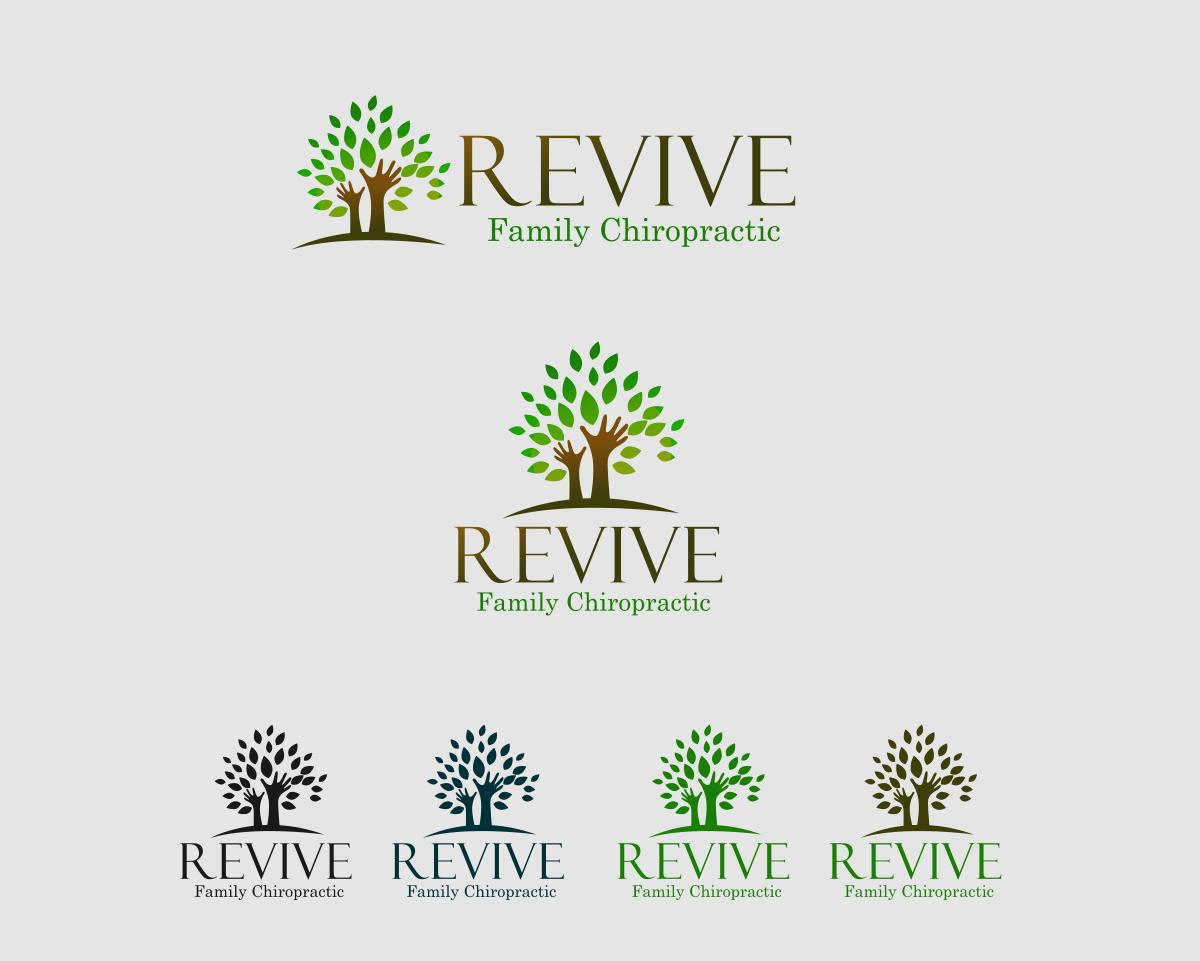 Logo Design by Private User - Entry No. 21 in the Logo Design Contest Fun Logo Design for Revive Family Chiropractic.