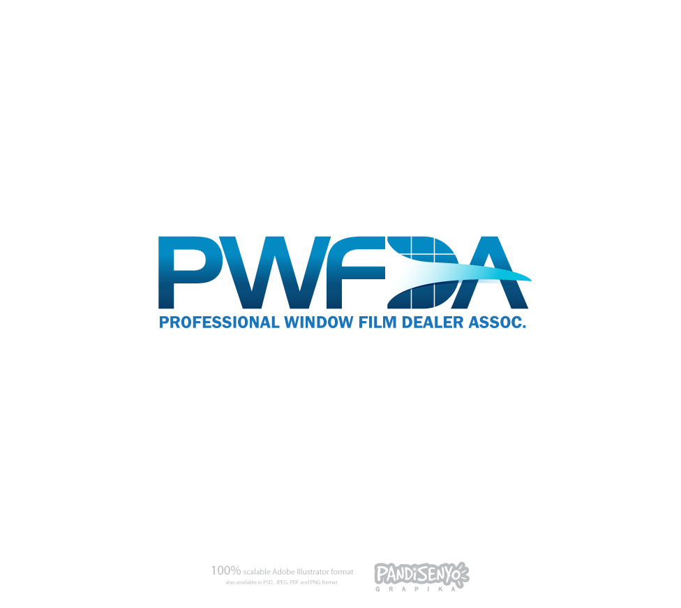 Logo Design by pandisenyo - Entry No. 58 in the Logo Design Contest  Logo Design for Professional Window Film Dealer Asso. (PWFDA).