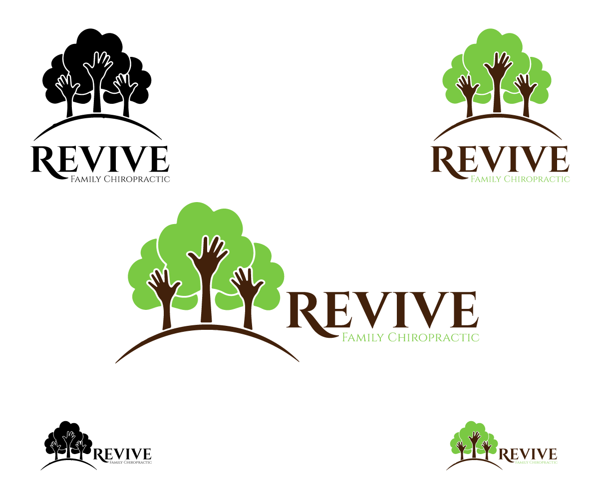 Logo Design by Qurban Hussain - Entry No. 29 in the Logo Design Contest Fun Logo Design for Revive Family Chiropractic.