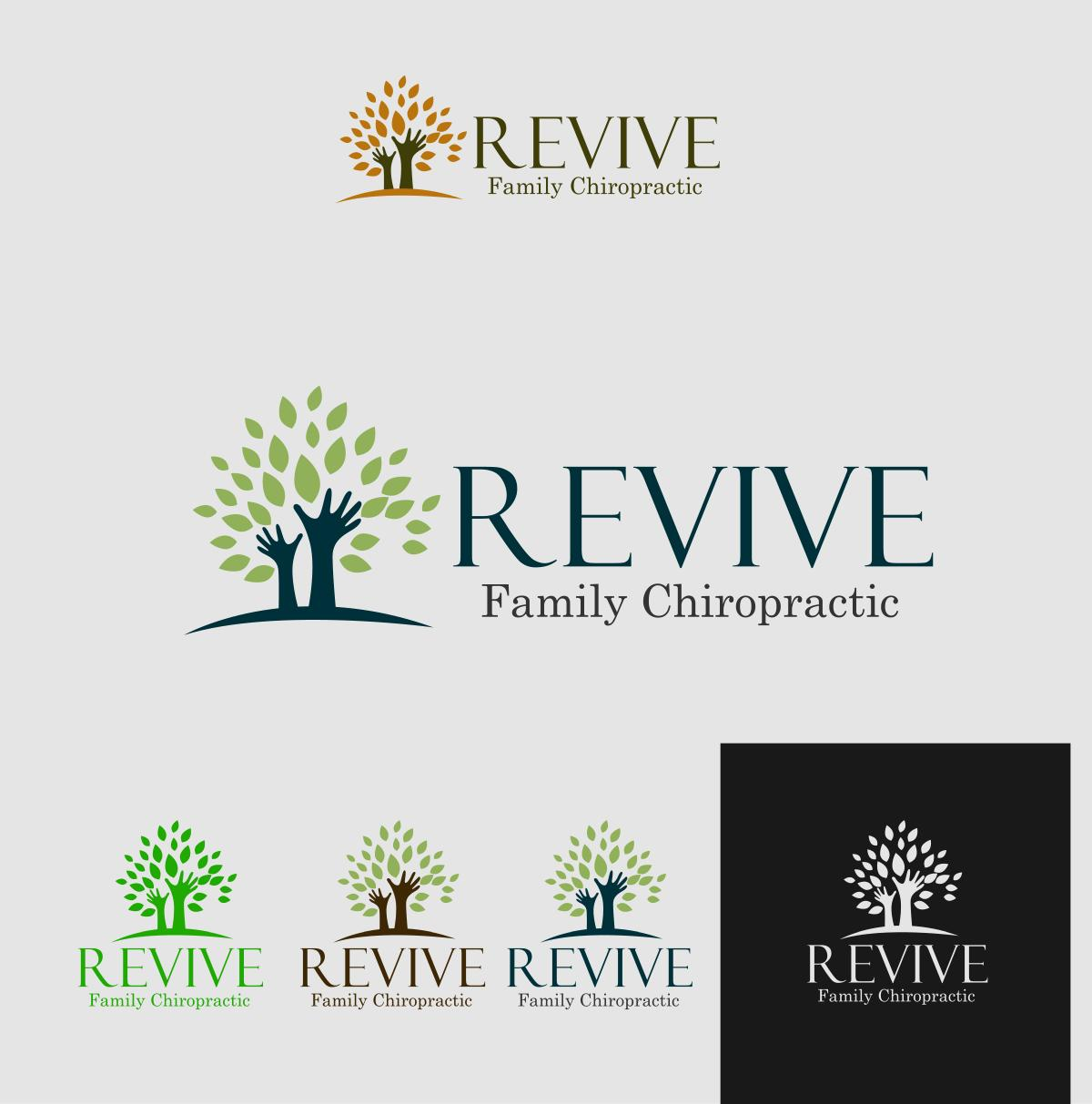 Logo Design by Private User - Entry No. 34 in the Logo Design Contest Fun Logo Design for Revive Family Chiropractic.