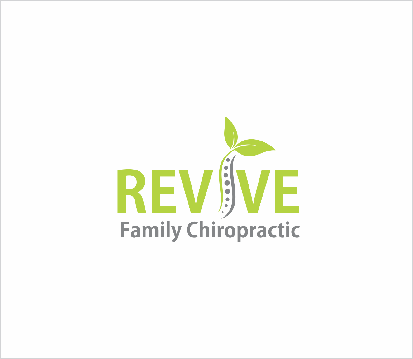 Logo Design by Armada Jamaluddin - Entry No. 42 in the Logo Design Contest Fun Logo Design for Revive Family Chiropractic.