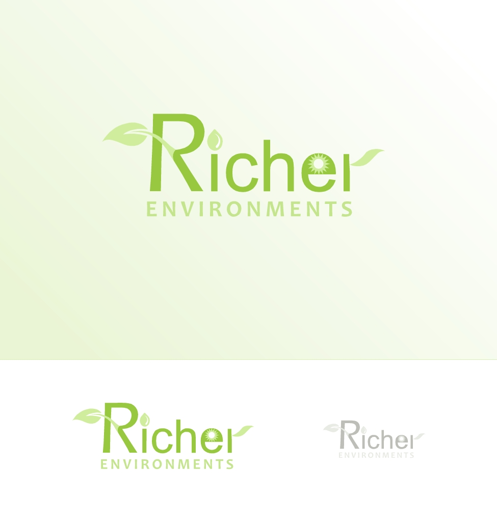 Logo Design by Hania Hassaan - Entry No. 94 in the Logo Design Contest Unique Logo Design Wanted for Richer Environments.