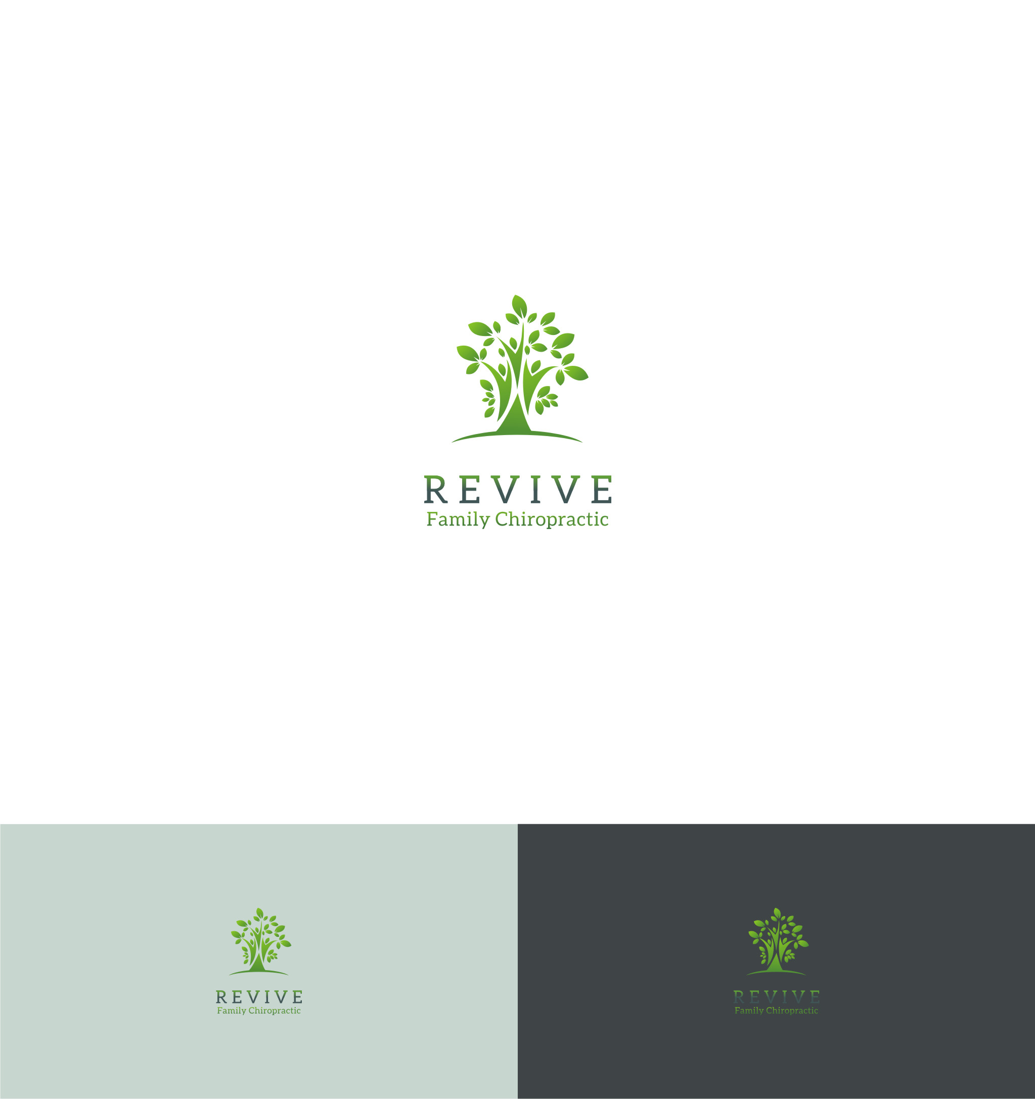 Logo Design by Qwerty78 - Entry No. 49 in the Logo Design Contest Fun Logo Design for Revive Family Chiropractic.