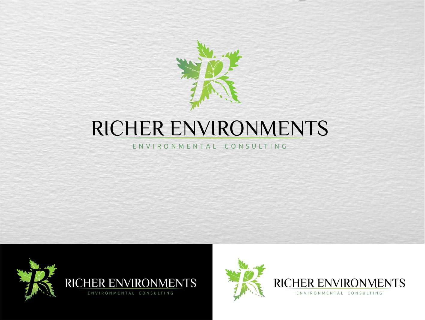 Logo Design by Private User - Entry No. 100 in the Logo Design Contest Unique Logo Design Wanted for Richer Environments.