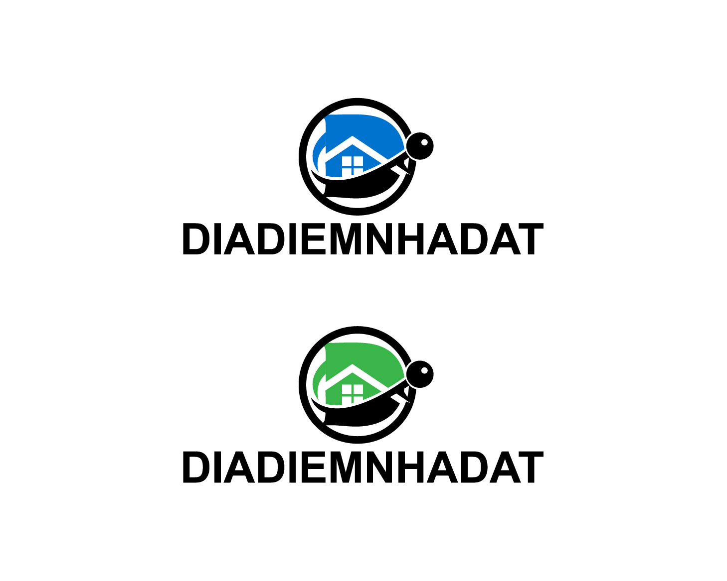 Logo Design by nirarajgraphics - Entry No. 58 in the Logo Design Contest New Logo Design for DIADIEMNHADAT.