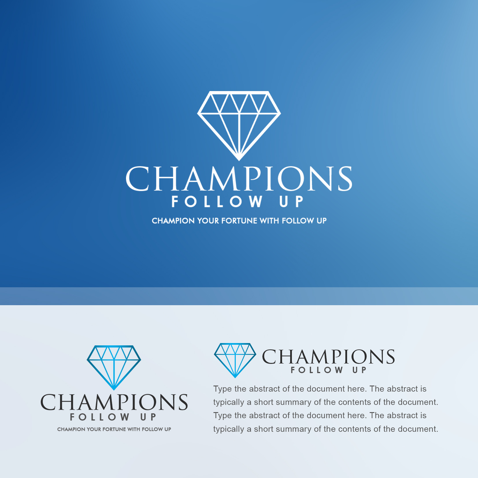 Logo Design by Rijall Blues - Entry No. 24 in the Logo Design Contest Fun Logo Design for Champions Follow Up.