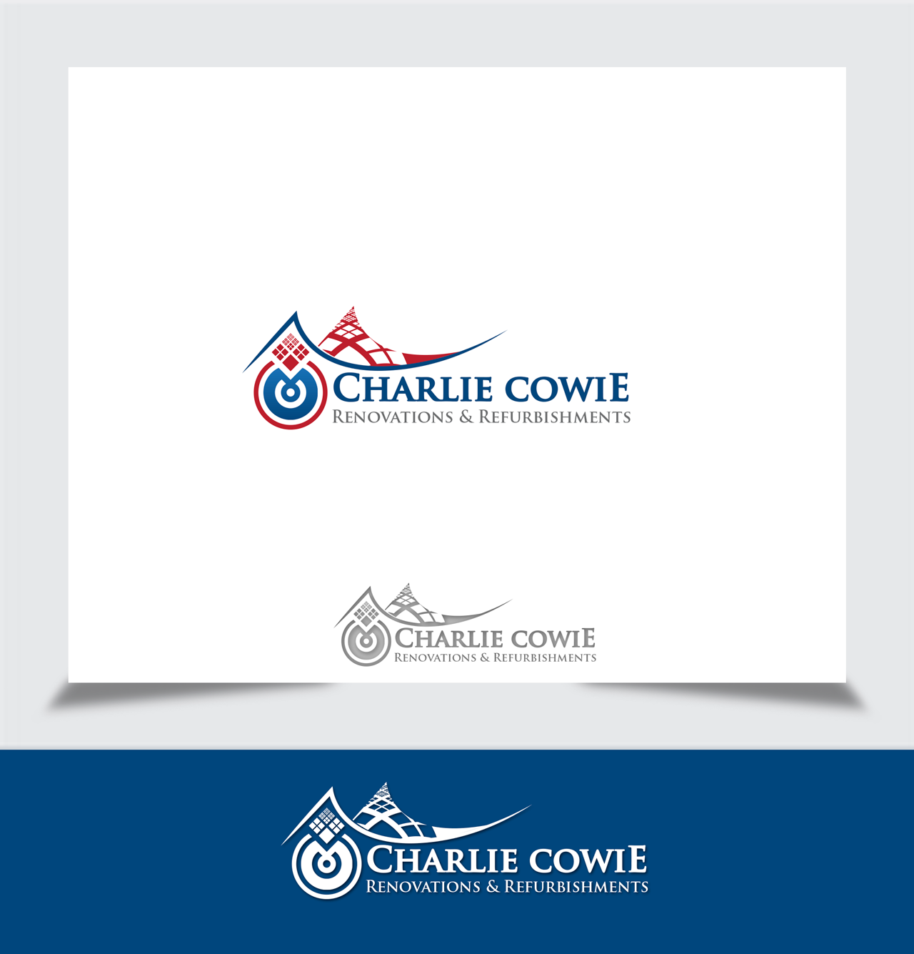 Logo Design by Tajammul Hussain - Entry No. 49 in the Logo Design Contest Charlie Cowie Renovations & Refurbishments Logo Design.