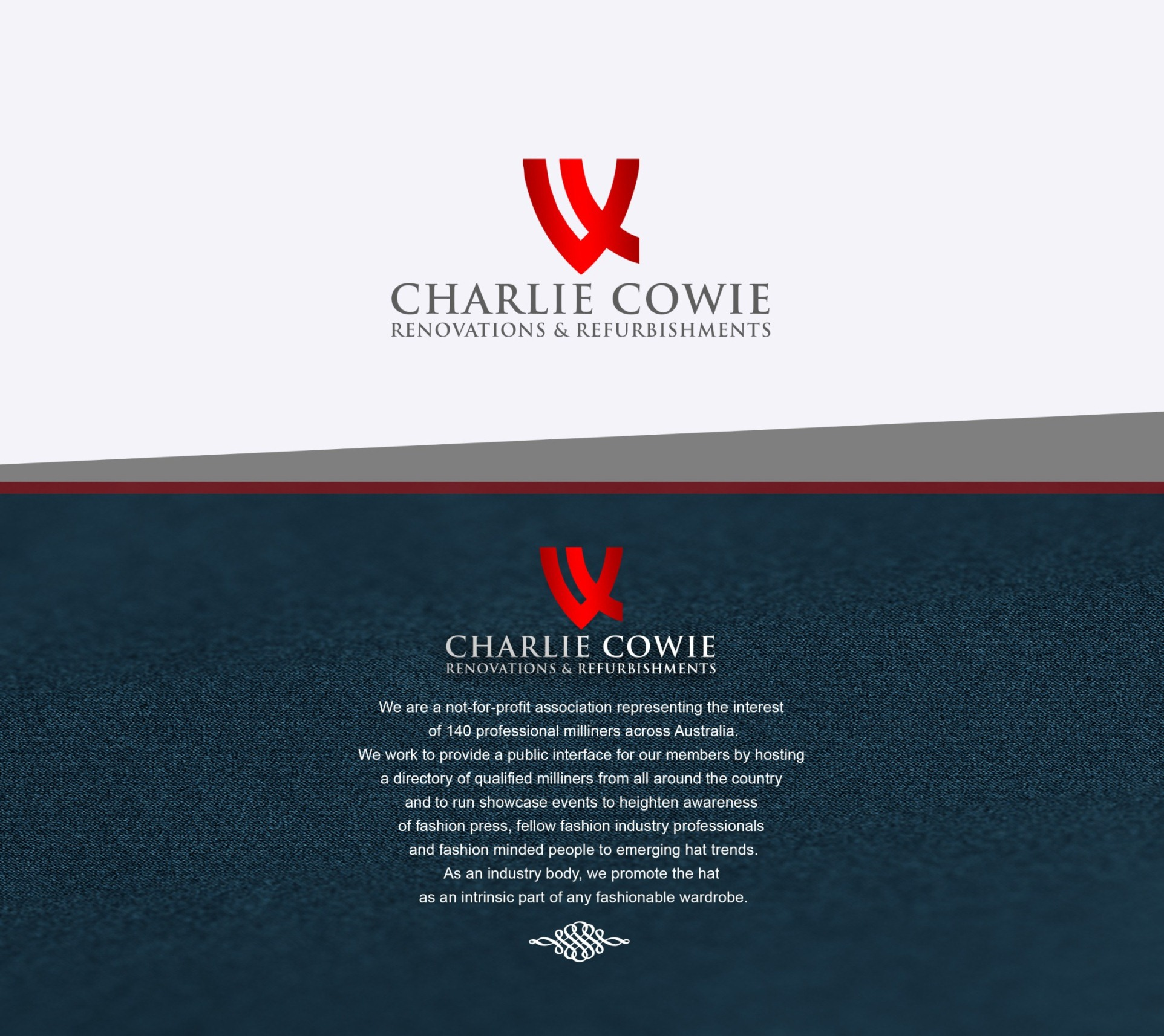 Logo Design by Rijall Blues - Entry No. 57 in the Logo Design Contest Charlie Cowie Renovations & Refurbishments Logo Design.