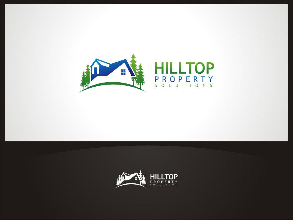 Logo Design by Gemboz Art - Entry No. 16 in the Logo Design Contest Imaginative Logo Design for Hilltop Property Solutions.