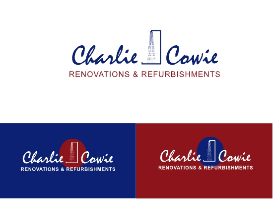 Logo Design by Hania Hassaan - Entry No. 82 in the Logo Design Contest Charlie Cowie Renovations & Refurbishments Logo Design.