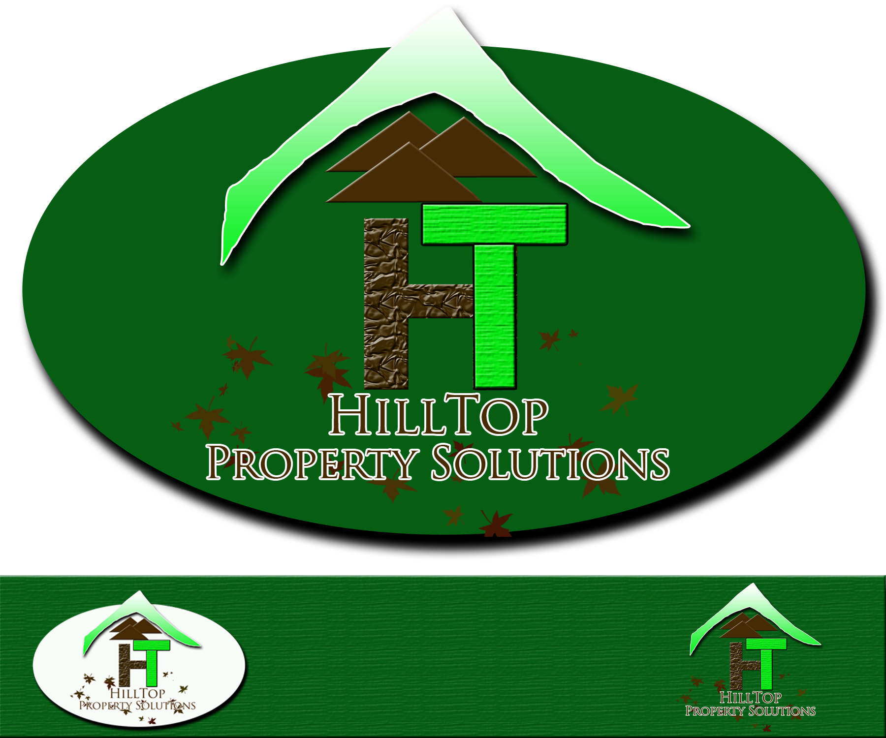 Logo Design by Jade Vinas - Entry No. 43 in the Logo Design Contest Imaginative Logo Design for Hilltop Property Solutions.